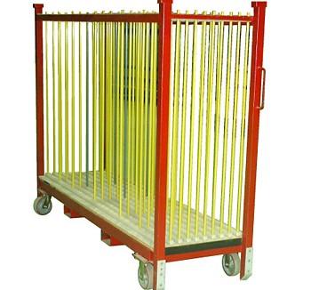 Rack (chariot) avec séparateur à tige 10 espaces