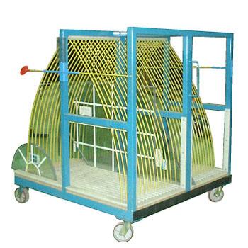 Rack (chariot) à tiges courbées sur roulettes 30 espaces