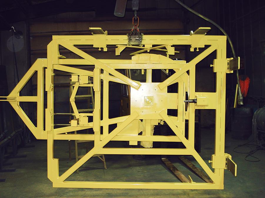 Main rotative pour bloc de verre