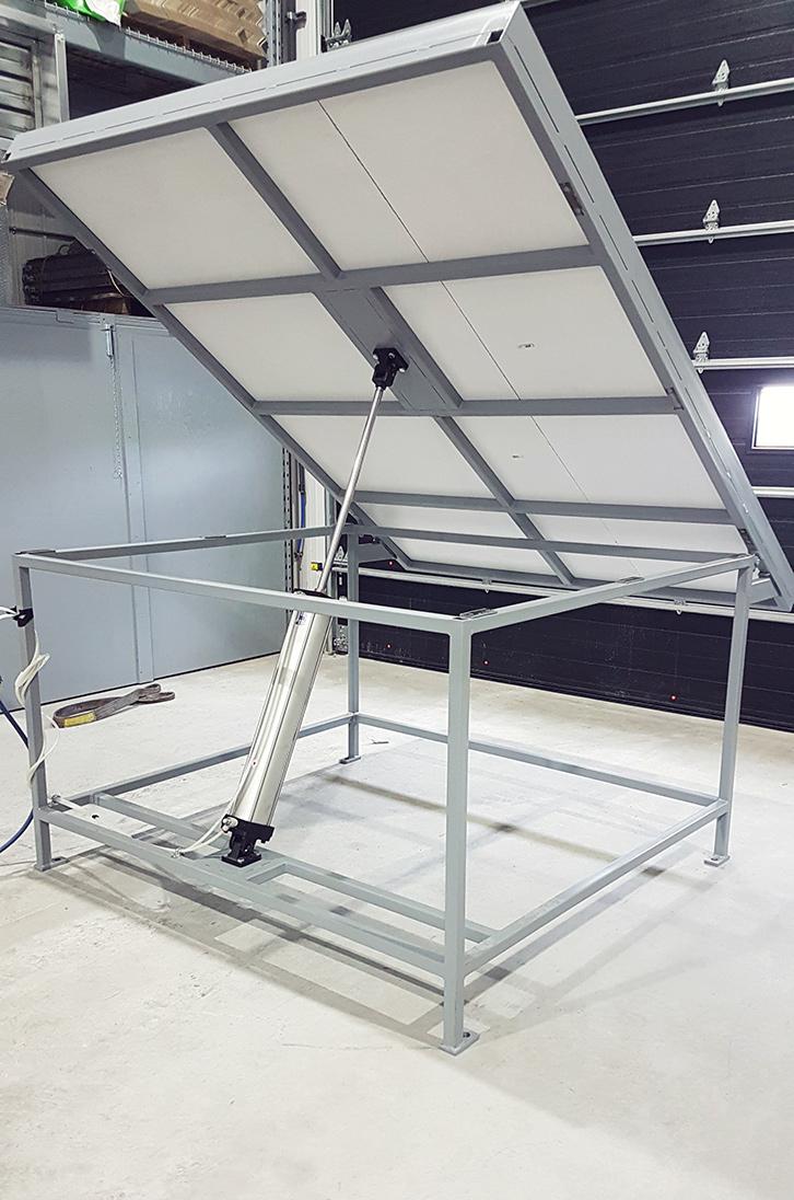 Table pneumatique pour test